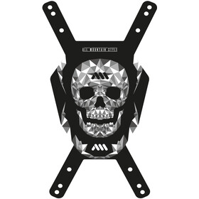 All Mountain Style Number Plate skull/black
